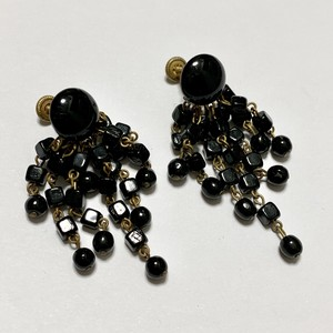 Vintage French Jet Dangle Earrings Made In West Germany