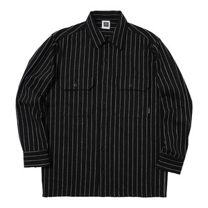 STRIPED SHIRT(BLACK)[TH8A-072]