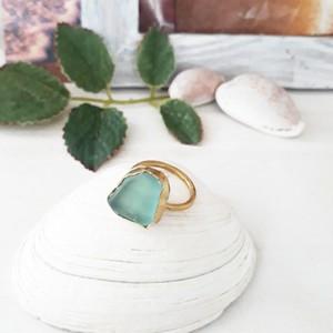 【3号】seaglass jewelry ring
