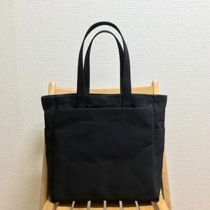 「ボックストート」大サイズ「ブラック(黒)」帆布トートバッグ 倉敷帆布8号