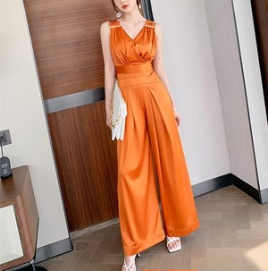 orange ハイウエストオールインワン c4178