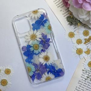 【12mini対応】押し花 iPhone case