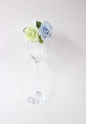 【オーダー制作】グラス装花 グラス付き