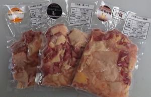 江田島地鶏三種食べ比べセット(真空パック・冷凍)