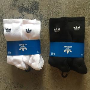 adidas Originals Trefoil Logo Crew 6 Pack Socks