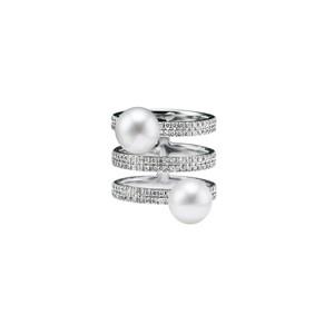 jg <equilibrium> リング K18/ダイヤモンド/あこやパール(動画での紹介商品)