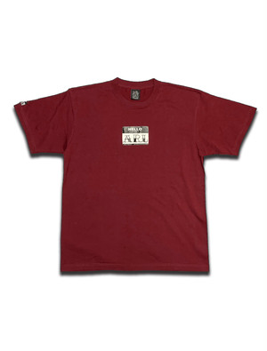LOGO STICKER TEE burgundy