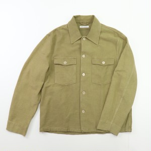 【OUR LEGACY】EVENING COACH JACKET KHAKI GREEN BRUSHED COTTON アワーレガシー ジャケット メンズ
