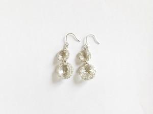 Yularice Bijoux pierced earring Double Silver