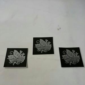 家紋ステッカー「蝶」(3枚組)屋外可・送料無料