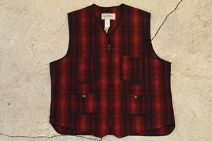 USED 80s L.L.bean Wool Vest -Large 0837