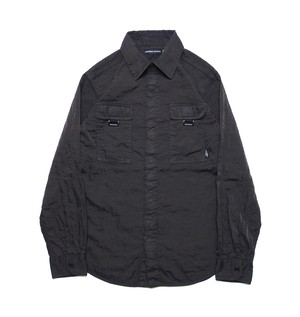 QUILTING NYLON SHIRT M316201 BLACK