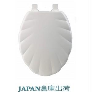 SHELL 貝殻デザイン木製便座 大型サイズ