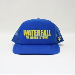 ロゴメッシュキャップ(レコードワッペン) ブルー F ユニセックス WATERFALL コラボ商品