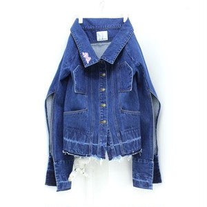 【GROUND ZERO】OFF SHOUDLER DENIM JACKET