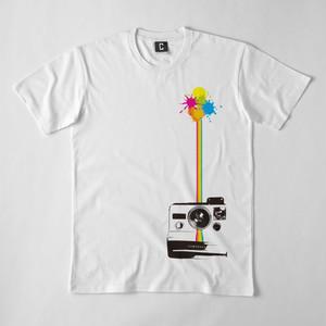 ポラロイドカメラ デザインTシャツ