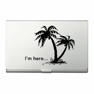 """カードケース『I""""m here...』Black"""