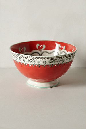 ANTHROPOLOGIE //  Elka Bowl -red