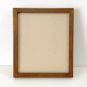 【枠細め】小色紙サイズの額縁 ブラウン(チーク)10枚セット