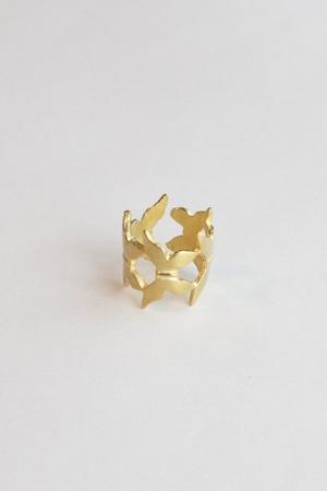 【TAMARI】Raw brass butterfly ring