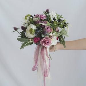 【Rental7泊8日】sweet pink bouquet & boutonniere