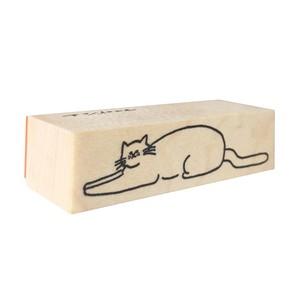 スタンプ「ふせ猫」