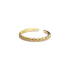 S925 TWIST THIN RING GOLD