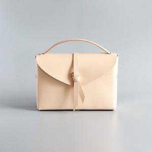 2way leather box bag slim #beige / 2way レザーボックスバッグ スリム #ベージュ
