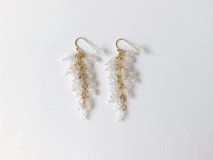 J I U Earring Long Gold+Frost