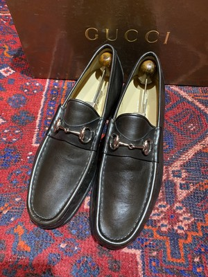 .GUCCI LEATHER HORSE BIT LOAFER MADE IN ITALY/グッチレザーホースビットローファー 2000000047140