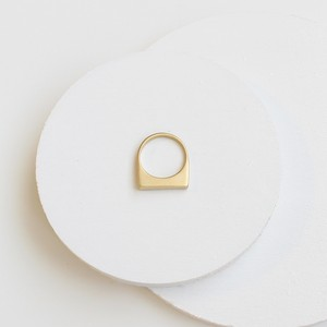 ■asymmetry ring -matte / gold-■ アシンメトリーリング マット ゴールド