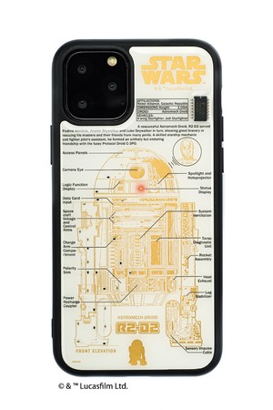 FLASH R2-D2 基板アート iPhone 11 Pro ケース  白【東京回路線図A5クリアファイルをプレゼント】