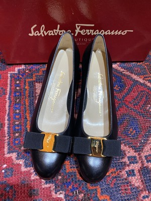 .Salvatore Ferragamo VARA LEATHER PUMPS MADE IN ITALY/サルヴァトーレフェラガモヴァラレザーパンプス2000000047119