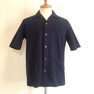 Cotton Seersucker Shirt jacket Navy