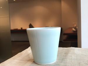 森 和之(もり かずゆき) 青白磁フリーカップ