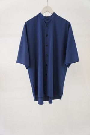 standcollar shirt -BLUE- / VUy