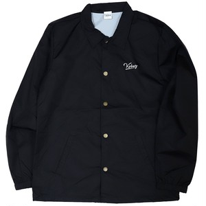 BLACK LOGO COACH JACKET