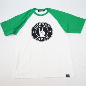 Oi! PUNK JAPAN ラグラン Tシャツ WHITE × GREEN