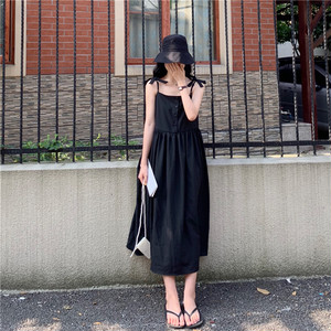 [数量限定]ribbon shoulder long dress