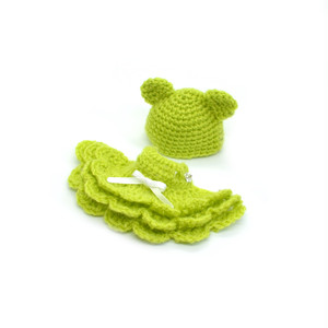 プチブライスサイズ くまの編みドレスセット