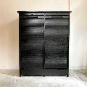 Double Tambour Doors Vintage Cabinet 50's オランダ