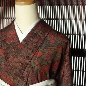 古典模様 160cm 正絹小紋【1005】