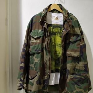 "1980s US ARMY M65 Field Jacket ""Woodland Pattern"" / ブラス ジップ   アーミー ウッドランド"