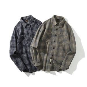 【UNISEX】チェック フランネルシャツ【2colors】