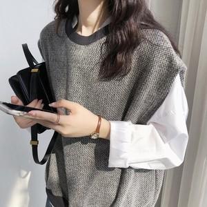 Loose Knit Vest Sweater T585