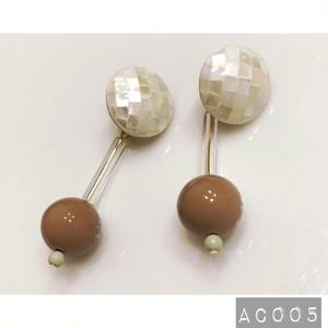 【再販6】AC005 ビンテージビーズイヤリング