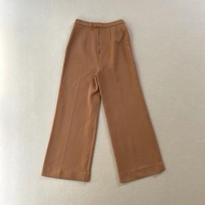 salmon pink stripe polyester pants