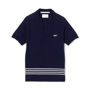 White Mountaineering / KNIT POLO SHIRT[NAVY]