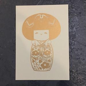 [POSTER] fumijoe KOKESHI silkscreen poster こけし シルクスクリーンポスター