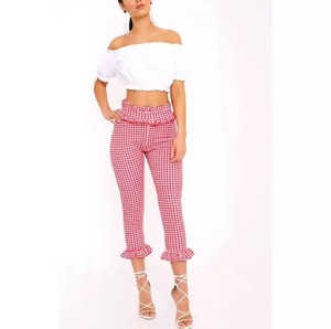 "PRETTY LITTKE THING ""GINGHAM TROUSERS"